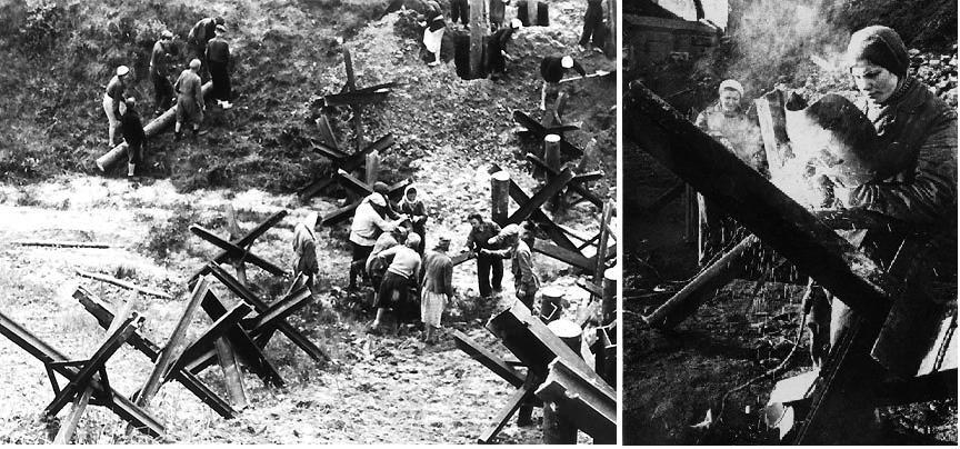 Противотанковые ежи 1941 г.