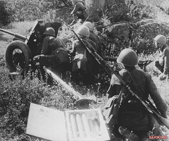 фотография 45-мм противотанковой пушки
