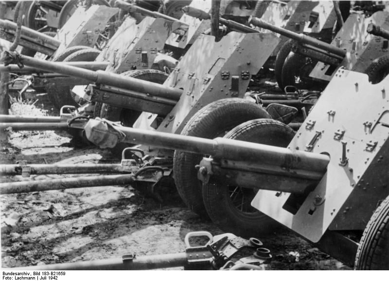 45-мм противотанковые пушки фото