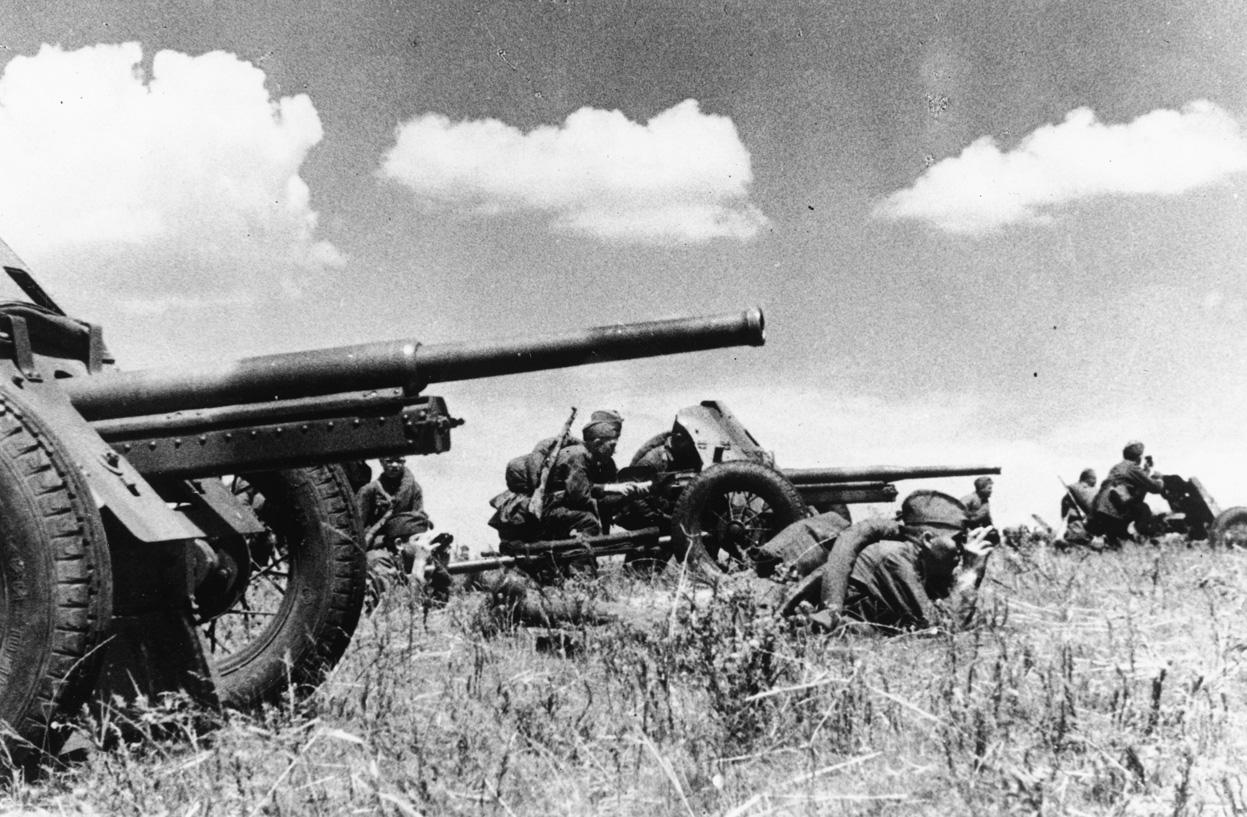 45-мм противотанковые пушки
