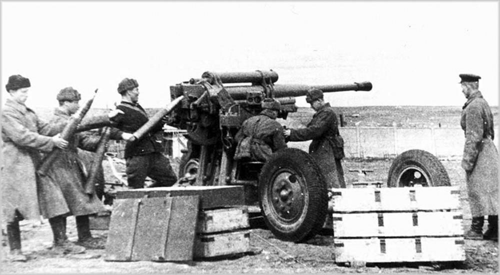 фотография 85-мм зенитной пушки