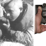 Заряжание противотанкового ружья ПТРС.