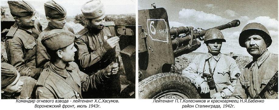 Обозначение подбитых танков на щитах пушек ИПТА
