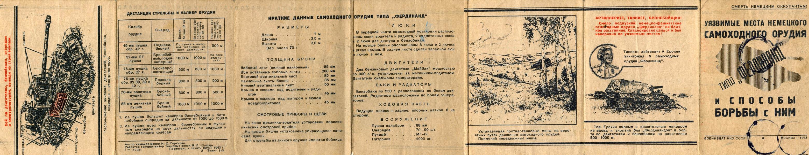 """Уязвимые места самоходного орудия """"ФЕРДИНАНД""""."""