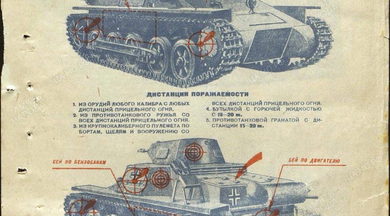 листовка по борьбе с немецким танком T 1