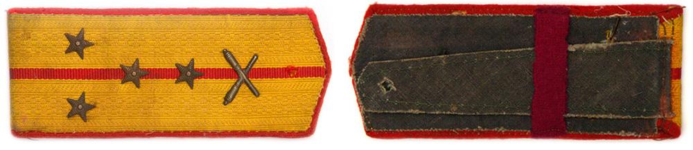 Повседневные погоны офицеров Красной Армии в ВОВ