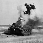 горящий немецкий танк Pz. III