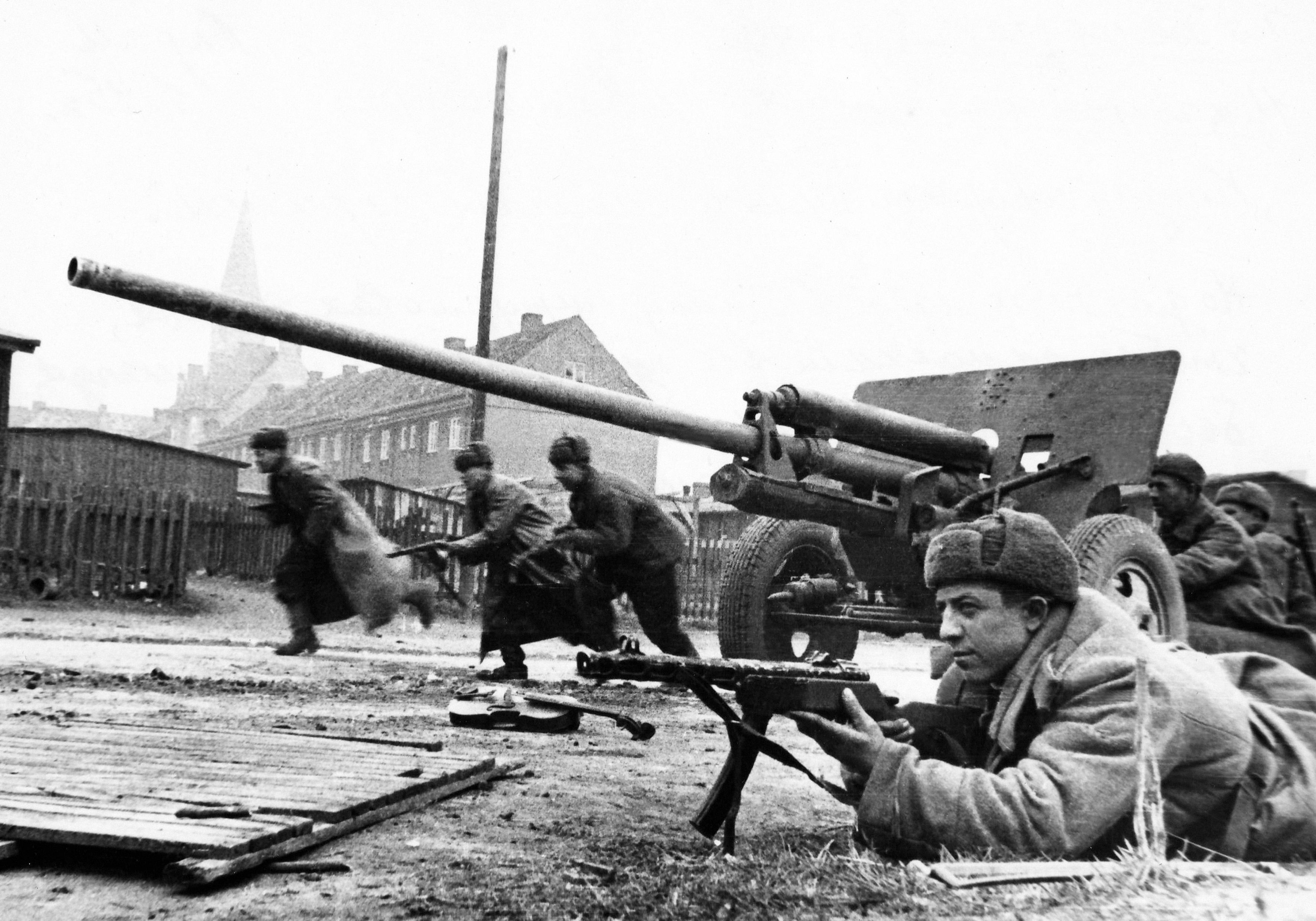 зис-2 и пехота