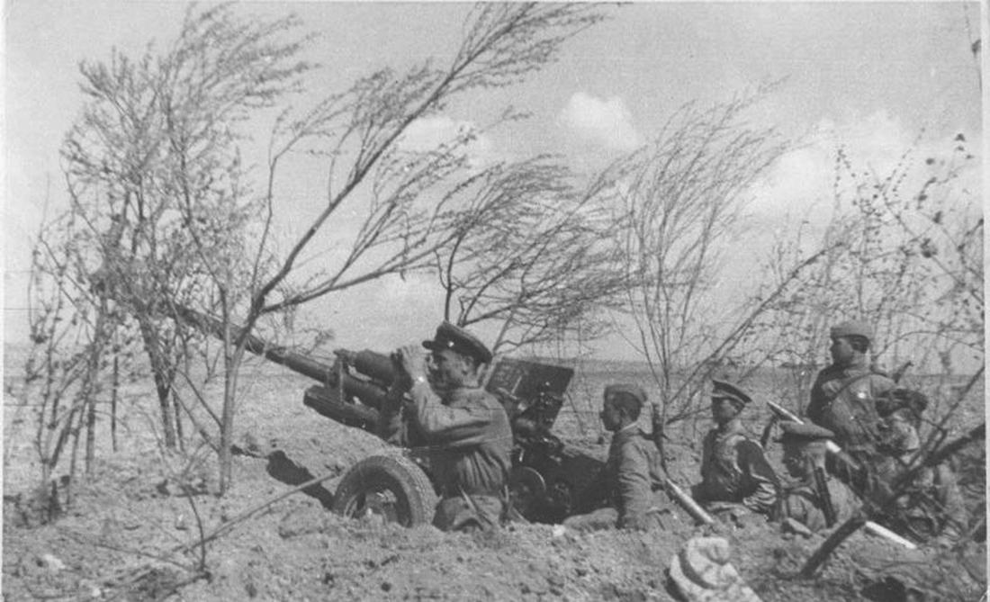 пушка ЗиС-3 в засаде