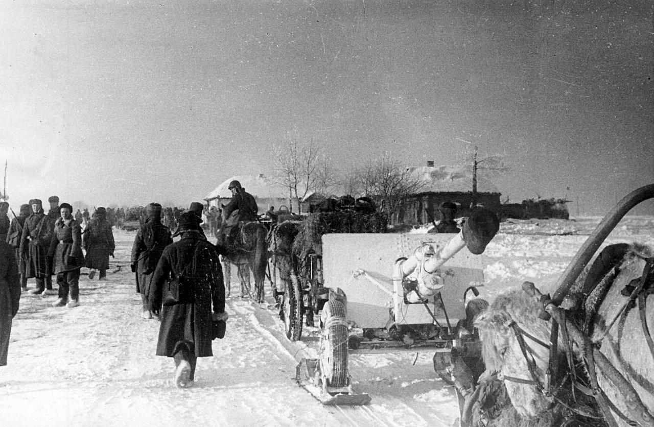 зис-3 зимой 1943 года