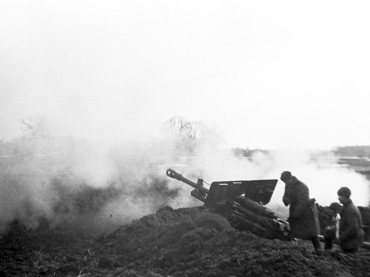 Пушка зис-3 выстрел