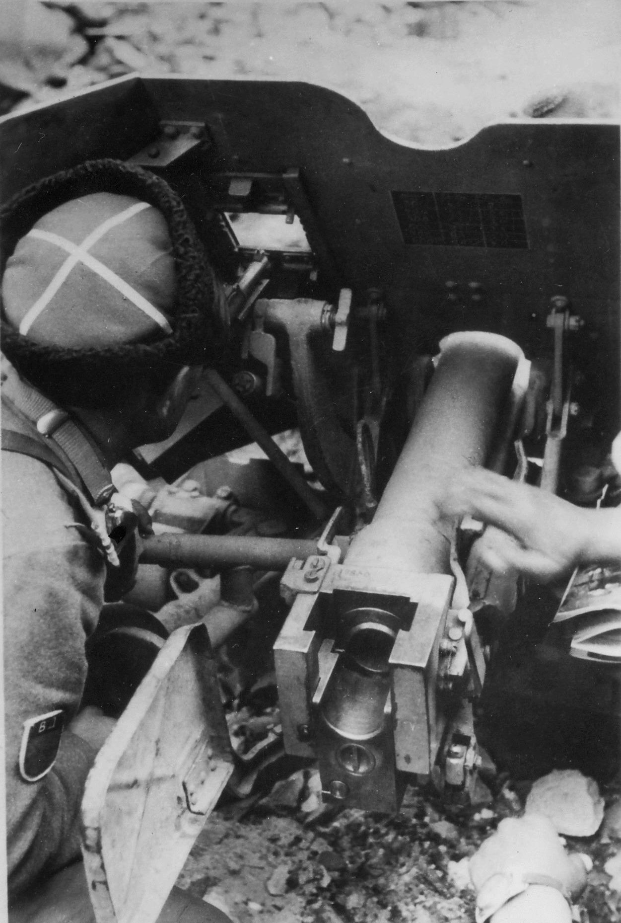 казенная часть 45-мм противотанковой пушки