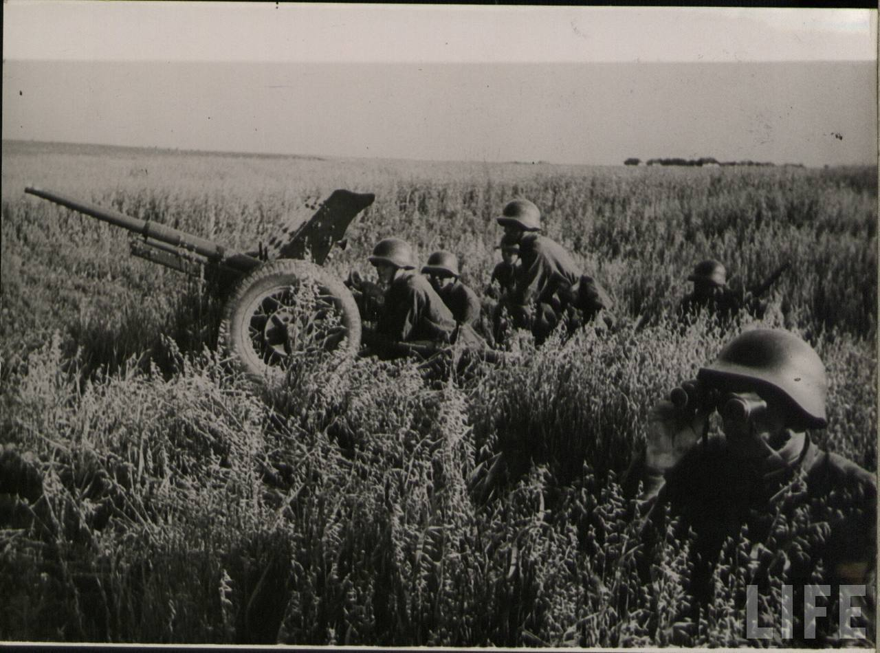 фото 45-мм противотанковая пушка