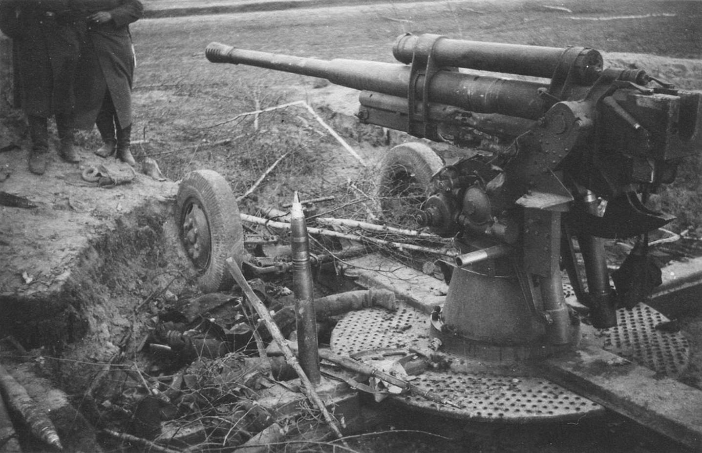 85-мм зенитная пушка на прямой наводке РККА