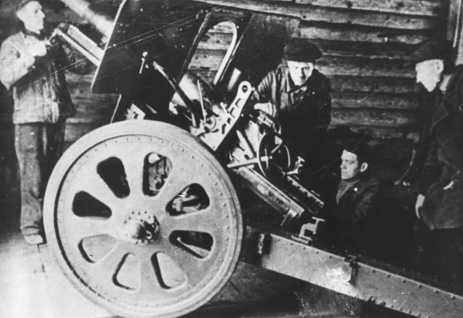 ремонт орудия Ф-22