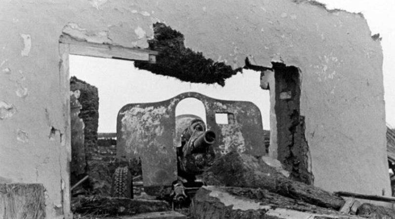 76-мм орудие УСВ на позиции