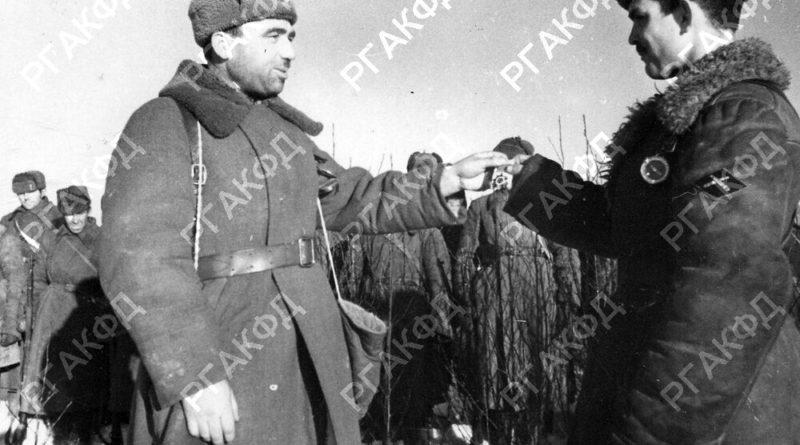 вручение ордена в противотанковой части