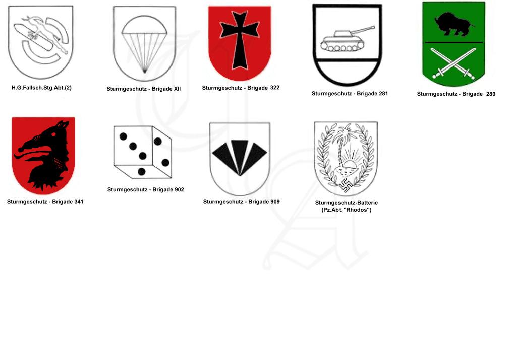 Эмблемы штурмовых орудий Германии -2