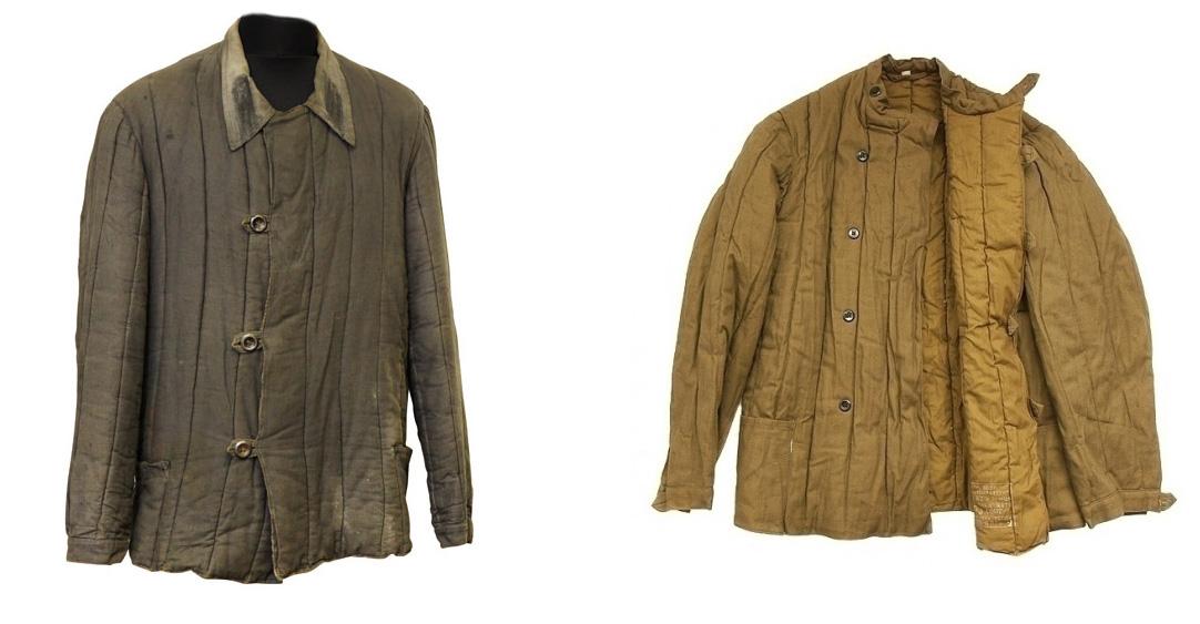 Иллюстрация — ватные стеганные куртки (телогрейки).