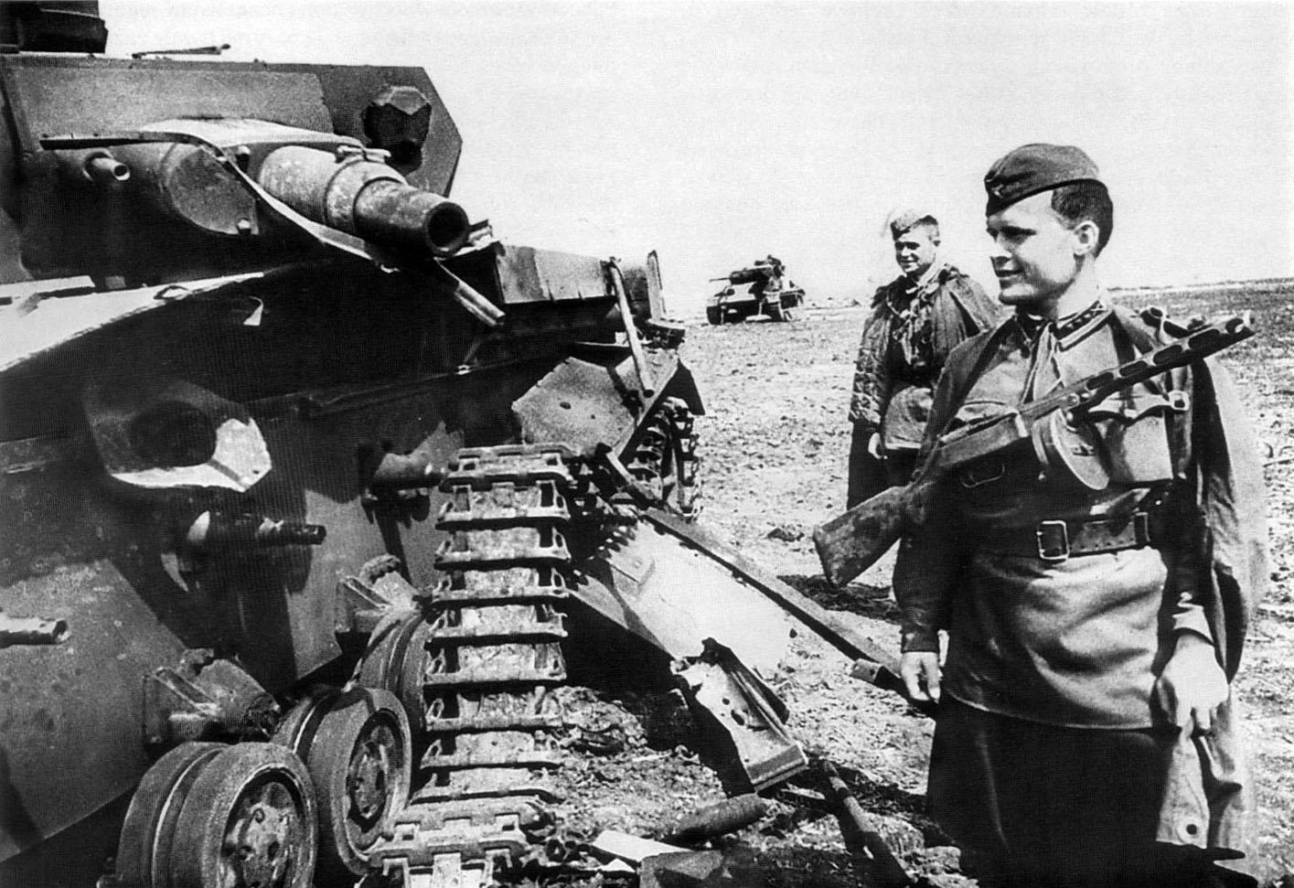 уничтоженный танк Pz 4