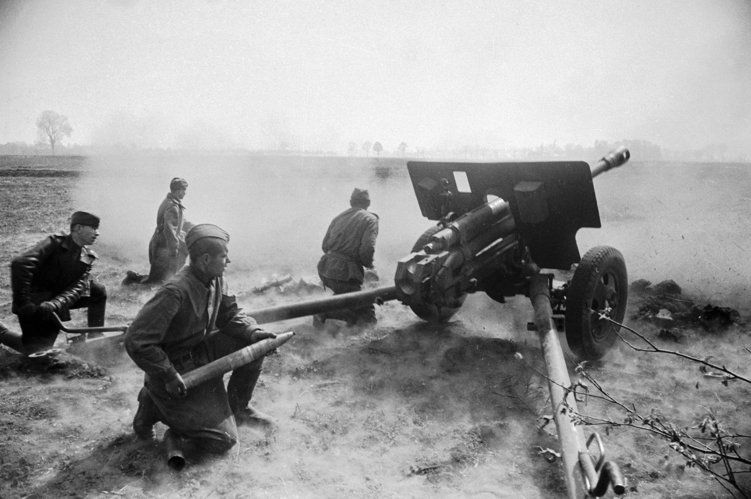 Фотография пушки ЗиС-3